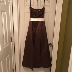 Chocolate bridesmaid gown
